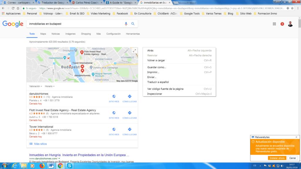 google mi negocio para bienes raíces, google mi negocio agencia inmobialiaria, google mi negocio inmobiliario